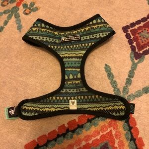 Reversible dog harness- Green pattern